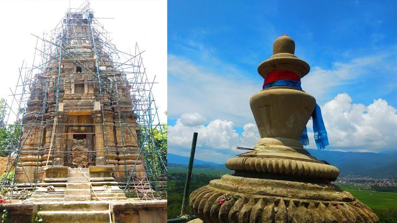 काँक्रेविहारमा शिखर शैलीको मन्दिर निर्माण