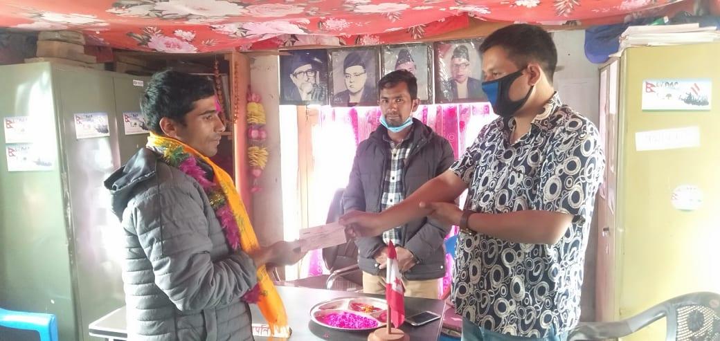 नेपाल कम्युनिष्ट पाटी नेकपा पाटी परित्याग गरि संज्याल काँग्रेसमा प्रवेश